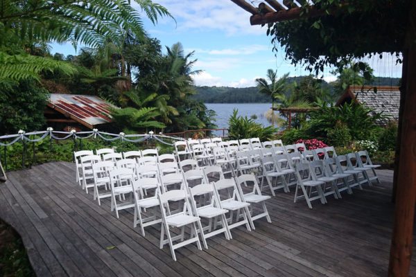 Wedding Ceremony Set UP Secrets on the Lake Maleny